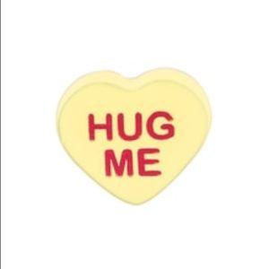 "3/$15 🖤 Origami Owl Candy Heart ""HUG ME"" Charm"